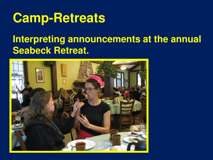 Camp-Retreats
