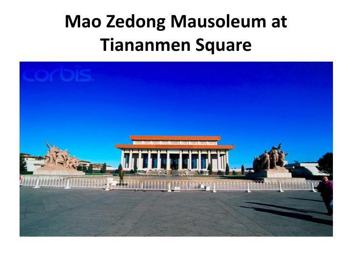 Mao Zedong Mausoleum at Tiananmen Square