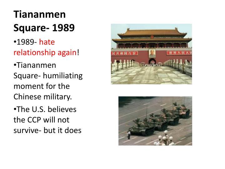 Tiananmen Square- 1989