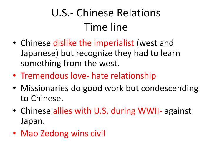 U.S.- Chinese Relations