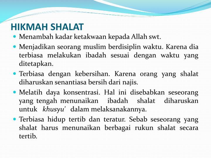HIKMAH SHALAT