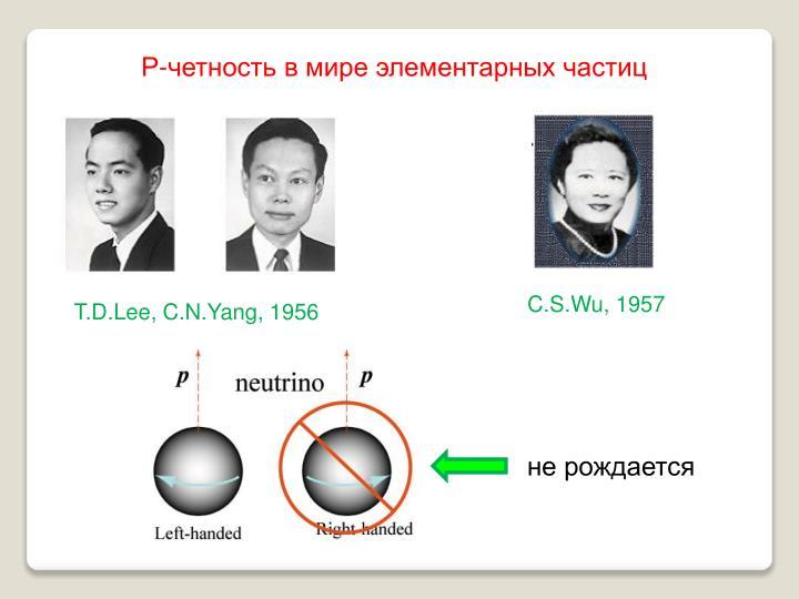 Р-четность в мире элементарных частиц
