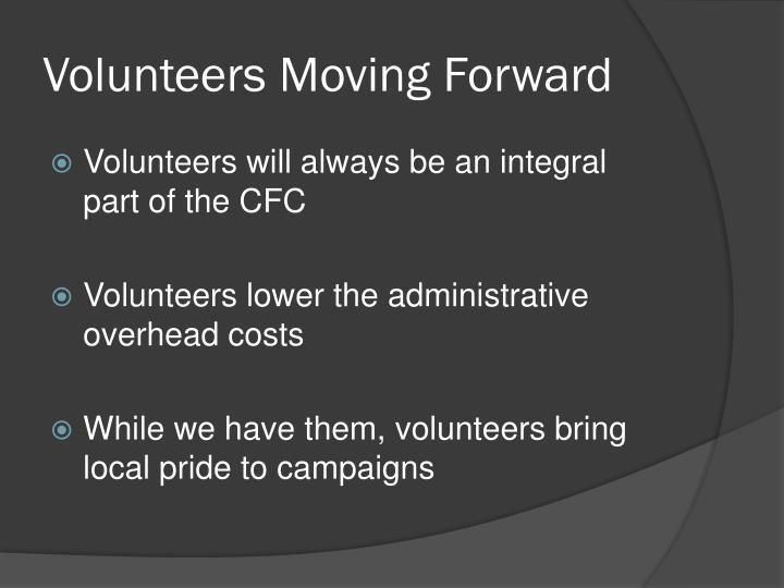 Volunteers Moving Forward