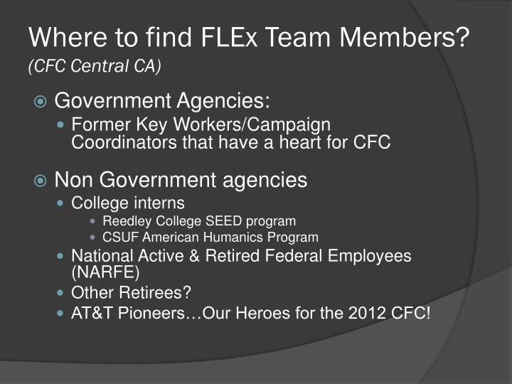 Where to find FLEx Team Members?