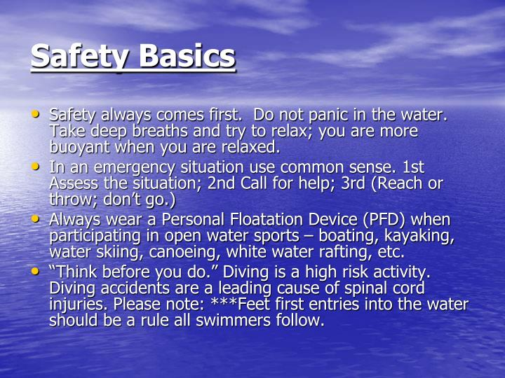 Safety basics
