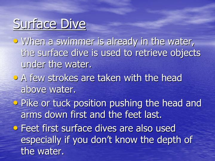 Surface Dive
