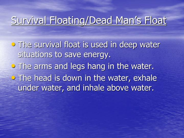 Survival Floating/Dead Man's Float