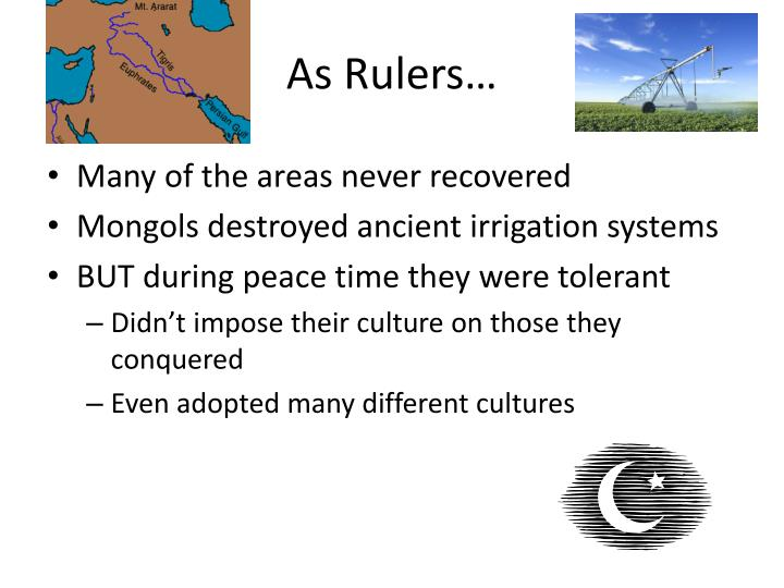 As Rulers…