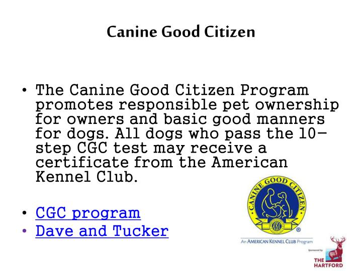 Canine Good Citizen