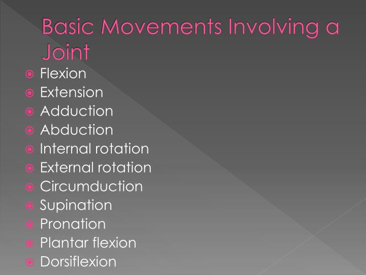 Basic Movements Involving a Joint