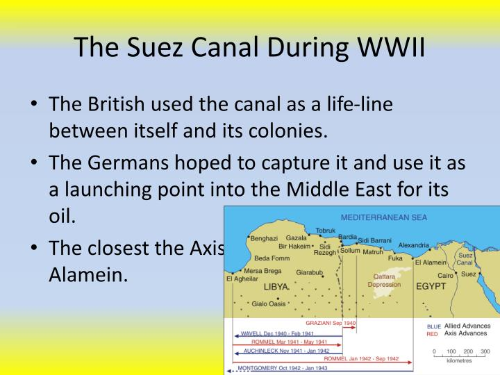 The Suez Canal During WWII