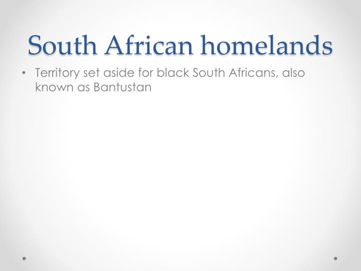 South African homelands