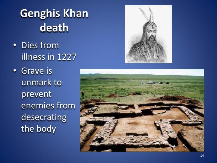 Genghis Khan death