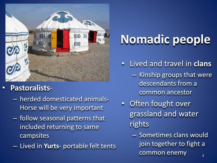 Nomadic people