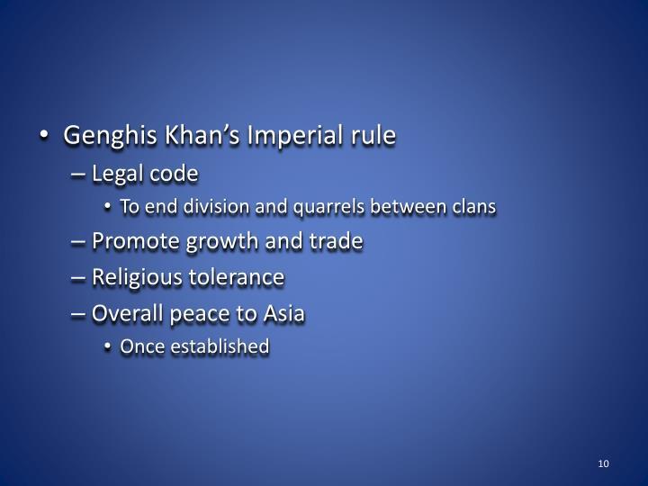 Genghis Khan's Imperial rule