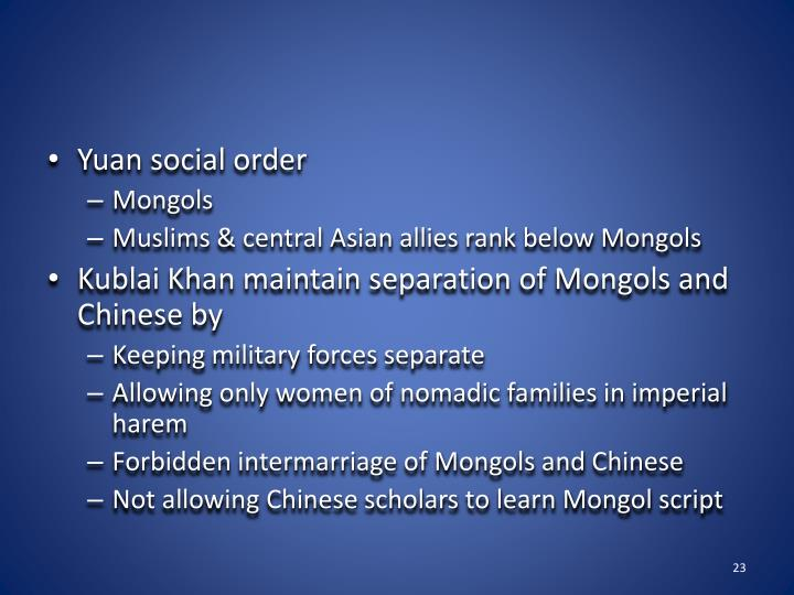 Yuan social order