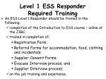 level 1 ess responder required training