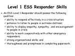 level 1 ess responder skills
