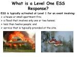 what is a level one ess response