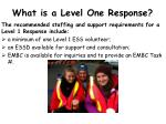 what is a level one response