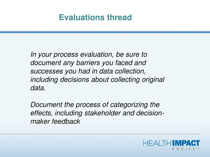 Evaluations thread