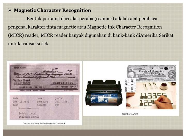 Magnetic Character