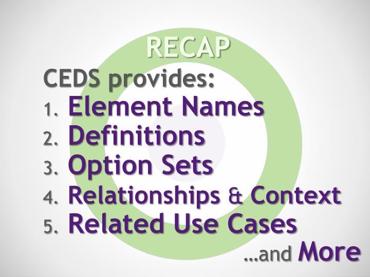 CEDS provides: