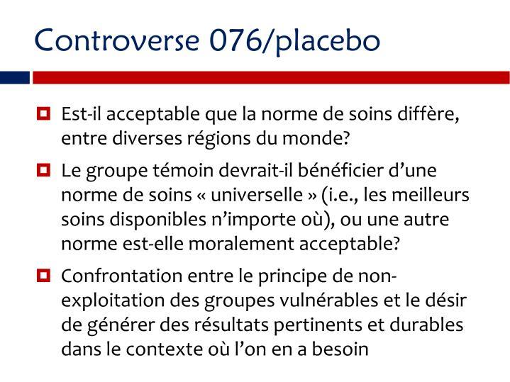 Controverse 076/placebo