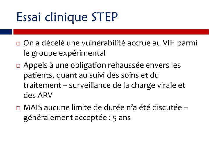 Essai clinique STEP