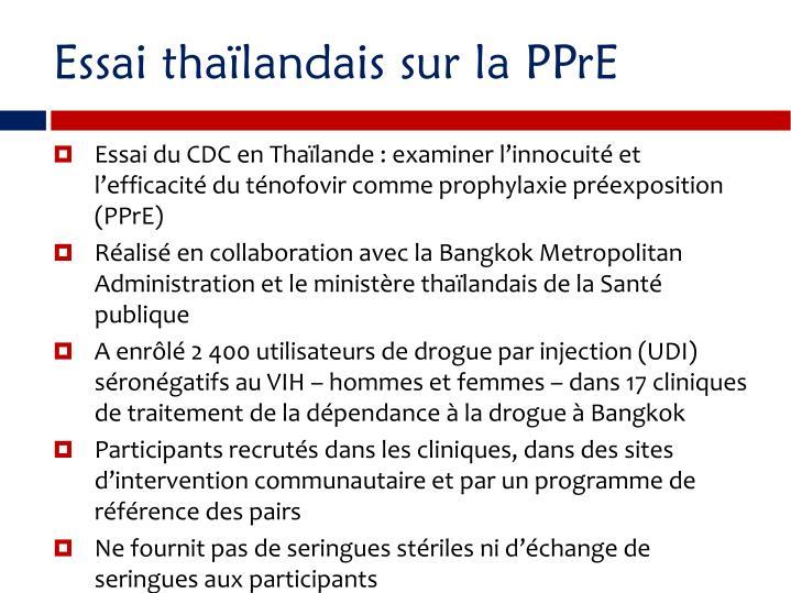 Essai thalandais sur la PPrE