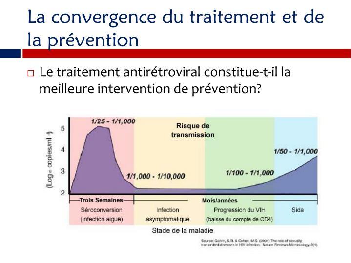 La convergence du traitement et de la prvention