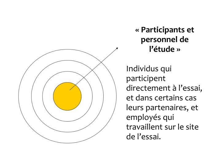 Participants et personnel de ltude