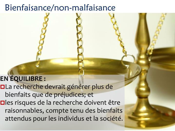 Bienfaisance/non-malfaisance