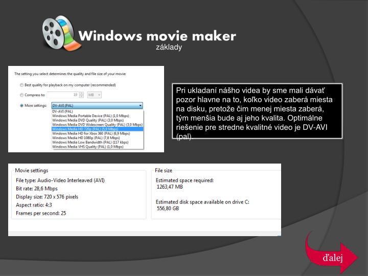 Windows movie maker