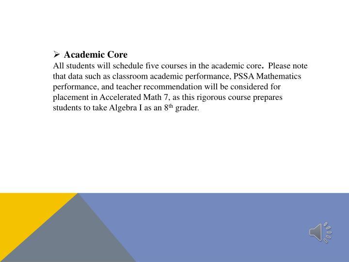 Academic Core