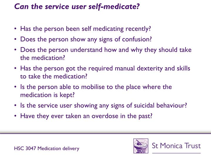 hsc 3047 hsc 3047 support use of medication in social care settings 11 identify legislation that governs the use of medication in social care settings the medicines act .