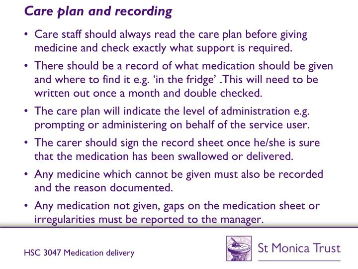 cu1572 support use of medication in social care settings Medication learning materials unit: hsc 3047 title: support use of medication in social care setting hsc 3047 powerpoint presentation part 1.