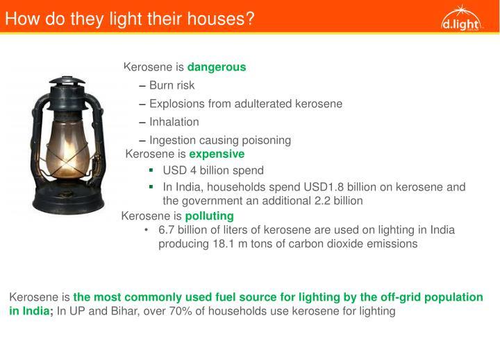 How do they light their houses?