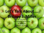 let s talk about britney j miller