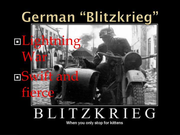 "German ""Blitzkrieg"""