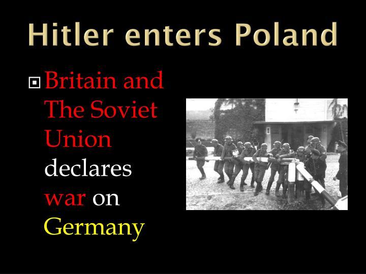 Hitler enters Poland