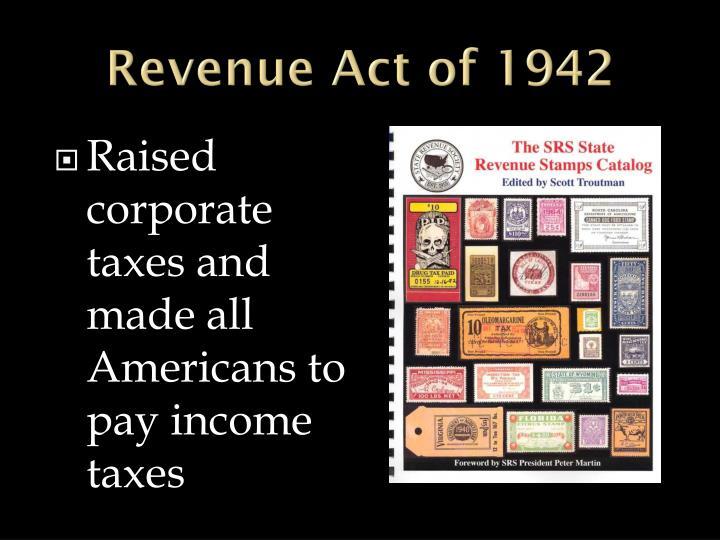Revenue Act of 1942