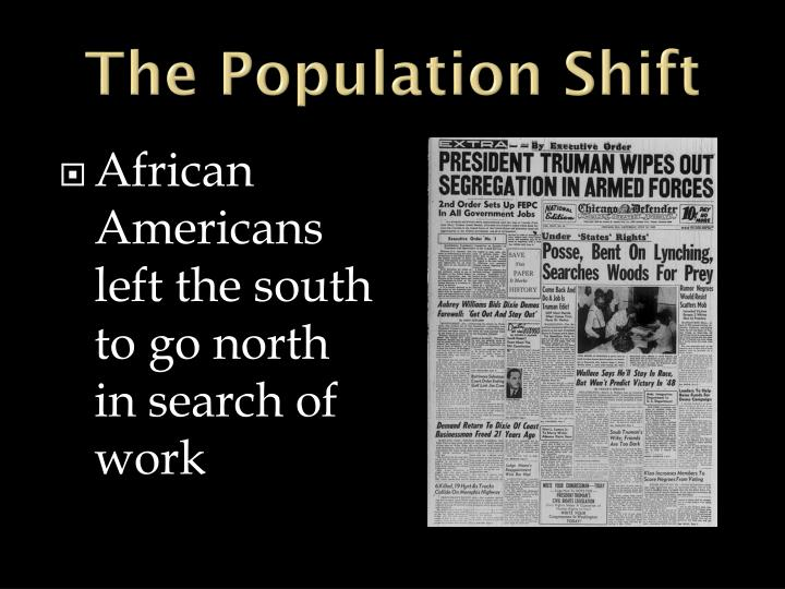 The Population Shift