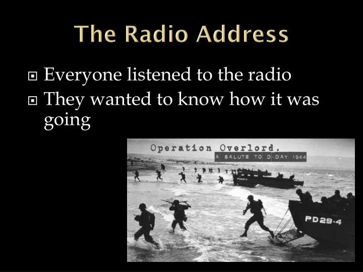 The Radio Address