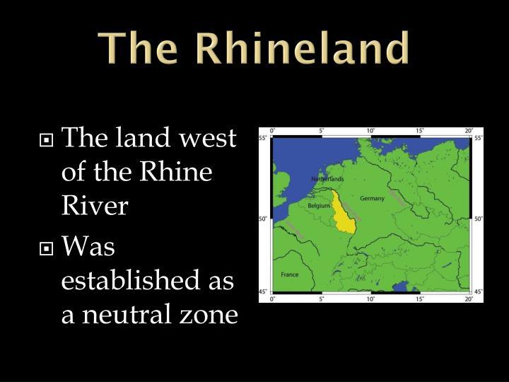 The Rhineland