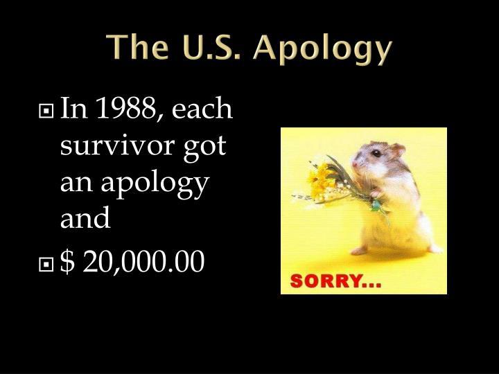 The U.S. Apology
