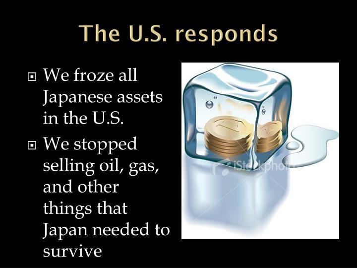 The U.S. responds