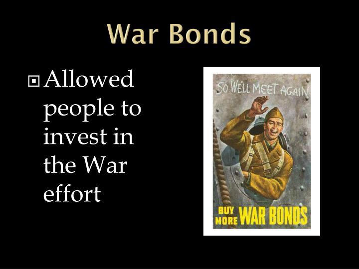 War Bonds