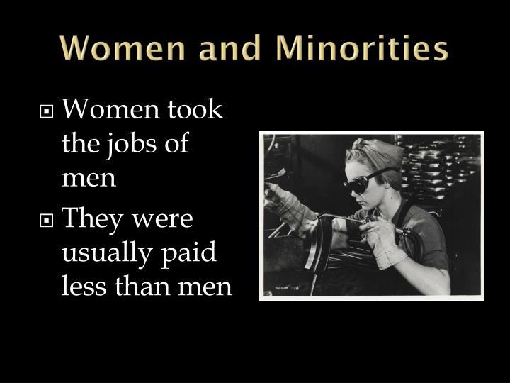 Women and Minorities