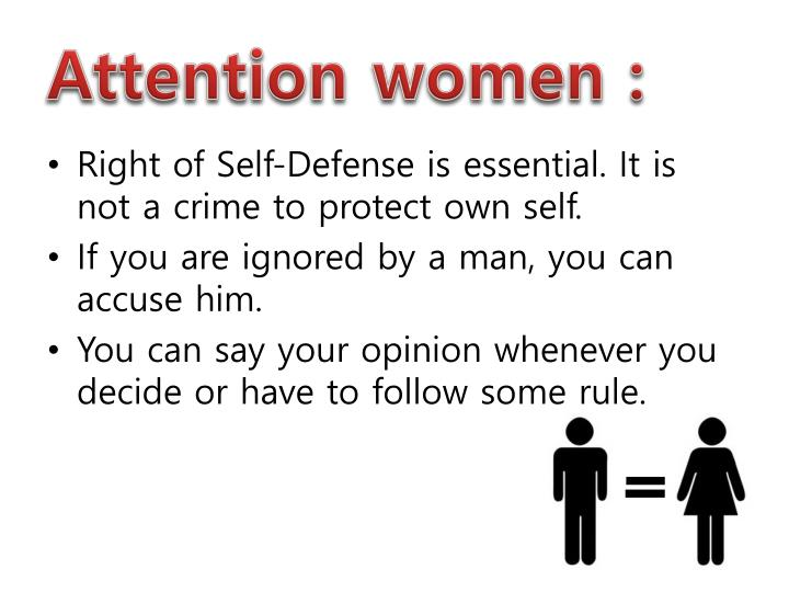 Attention women :